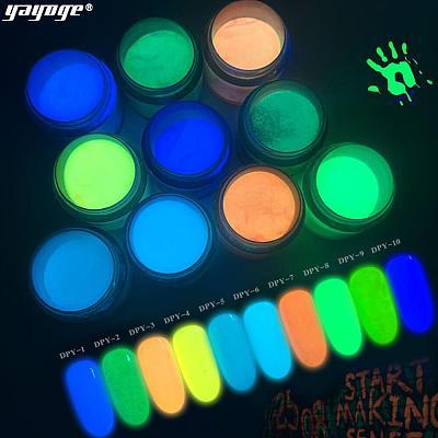 Luminous Dip Powder Glow in Dark Fluorescent Glitter Pigment DPY(10ml)