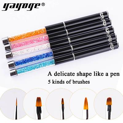 5 Sizes Rhinestone Engraving Painting Sculpture Brush Pen