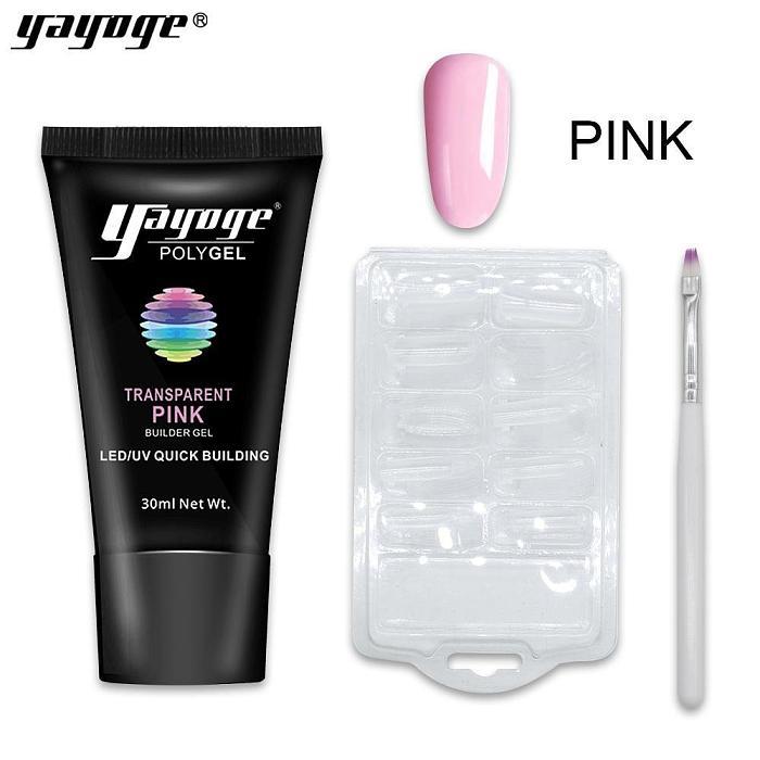 3 Basic Colors Poly Gel Nail Kit P16-Set01(30ml)