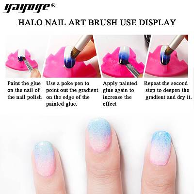 Wooden Handle Nail Gradient Brush Painting Dizzy Dye Pen