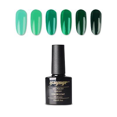 6 Colors Forest Green Series UV LED Gel Nail Polish Soak Off(10ml)