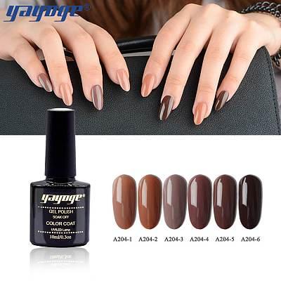 6 Colors Chocolate Series Nail Gel Polish Soak Off(10ml)