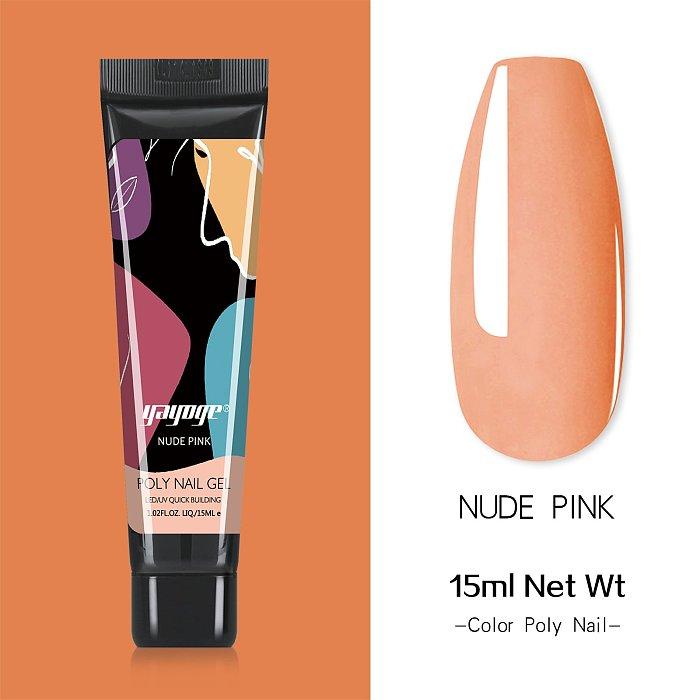 New Pack 15 PCs 3 Colors 15ML Nail Extension Polygel Set YTNP15045
