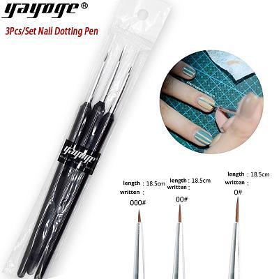3 Pcs/Set Nail Gel Painting Dotting Pen Brush Nail Art DIY Tool