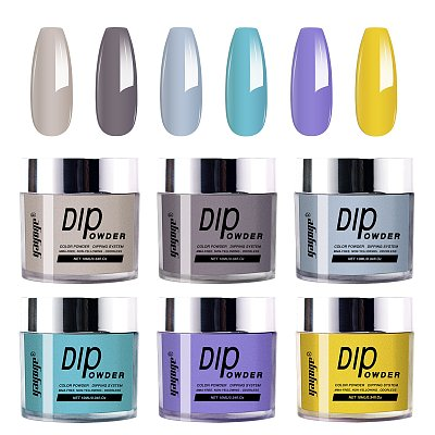 2021 Nail Art DIP SYSTEM 6 COLORS Dip Powder KIT
