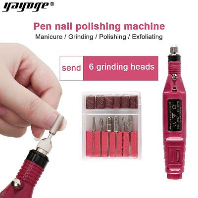 6 Bits Drill Nail Grinding Machine Kit