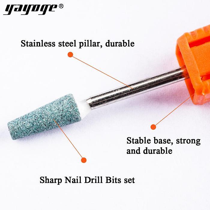 5 Pcs/Set Bullet Ceramic Nail Drill Bit Unload Trim