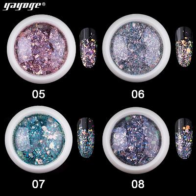 8 Colors Selectable Sparkling Ash Glitter Nail Sequins