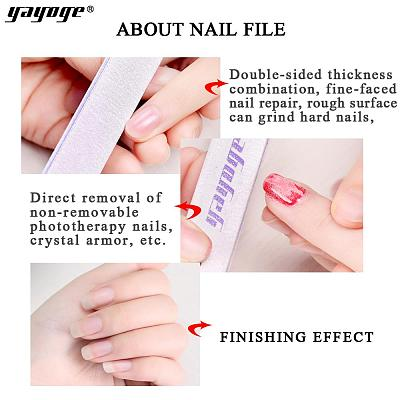 1/5/10Pcs/Set 100/180 Double-Sided Sand Polishing Nail File For Nail Art Manicure Styling Tool