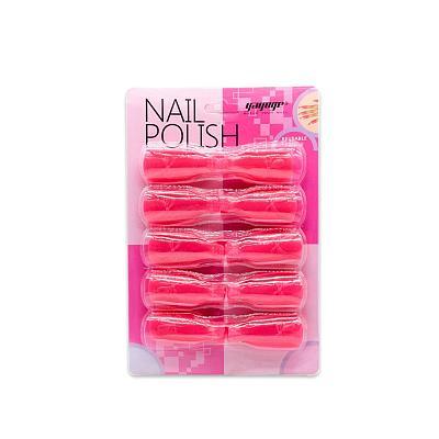 10Pcs/Set 5Colors Nail Art Remover Clip
