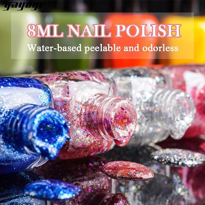 Peel Off Water Based Nail Polish SX(8ml)
