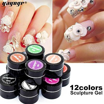 US WAREHOUSE 3D Sculpture Carved Nail Gel DH001