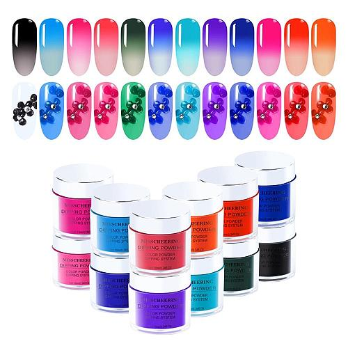 3 IN 1 Chameleon Dip Powder Temperature Change Color Powder No Need Cur