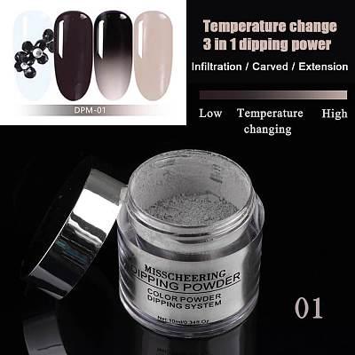 3 IN 1 Chameleon Dip Powder Temperature Change Color Powder No Need Cur