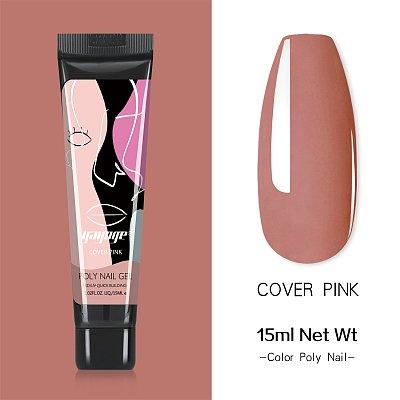 New Pack 15 PCs 3 Colors 15ML Nail Extension Polygel Set YTNP15044