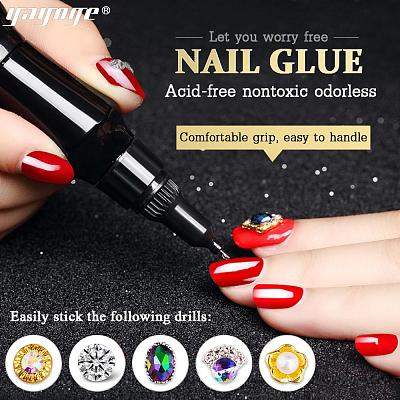 Super Sticky Nail Glue Acrylic UV Adhesive Nail Decoration Glue(12ml)