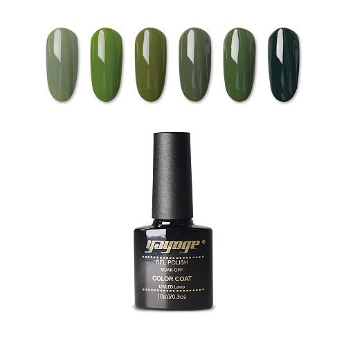 6 Colors Olive Green Series UV LED Gel Nail Polish Soak Off(10ml)