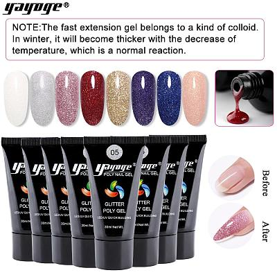 US WAREHOUSE 7 Colors Glitter Poly Gel P17(30ml)