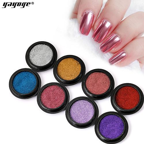 11 Colors Nail Mirror Powder Aurora Laser Chrome Glitter