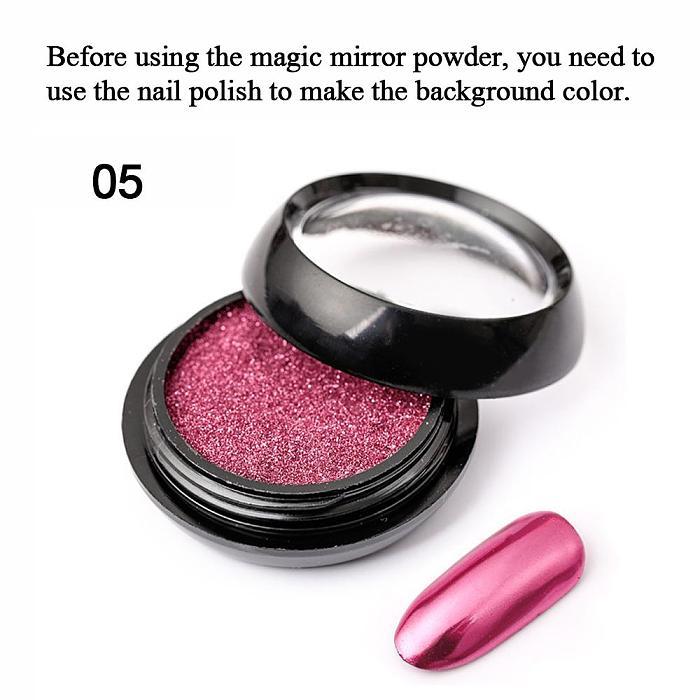 11 Colors Nail Mirror Powder Aurora Laser Chrome Glitter