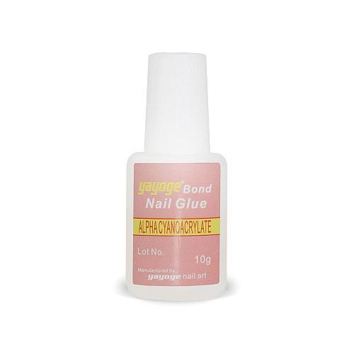 5 Pcs/set False Nail Tip Glue with Brush Acrylic Tips