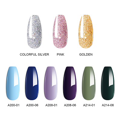 New Spring Light Colors 25PCs Nail Gel Glitter Polygel Kit