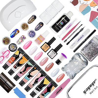 Polygel Pro All-in-one Kit 15ml 7 Colors Polygel Nail Kit