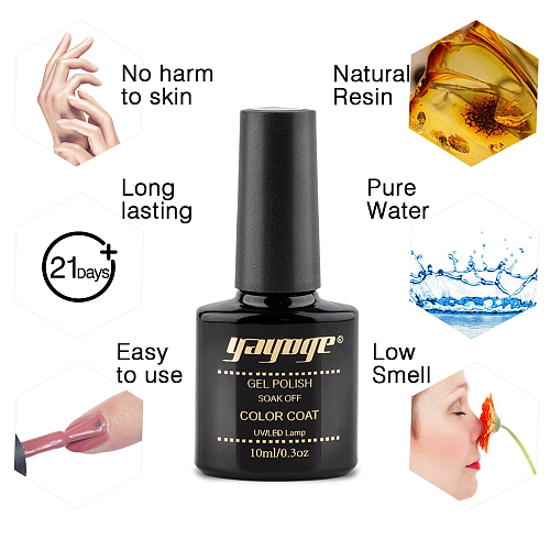 Summer Night 6 Colors Gel Nail Polish & Base Top Coat Set JTA206-2