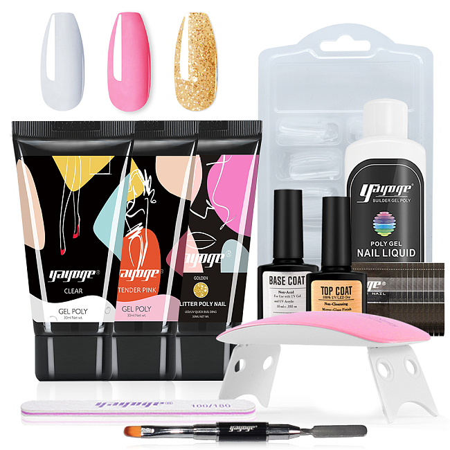 Lucky Rabbit 3 Colors Polygel Set With Nail Tools