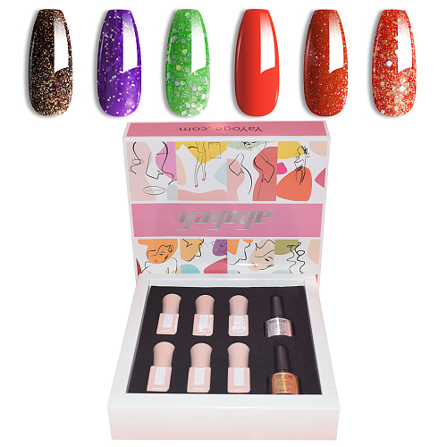 Infinite Shine 6 Colors UV Gel Nail Polish Kit