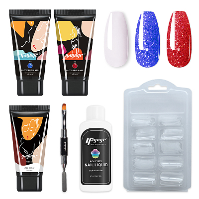 Fire and Storm 3 Colors Poly Gel Nail Extension Kit