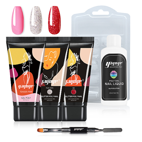 Friday Night 3 Colors Poly Gel With Nail Tools