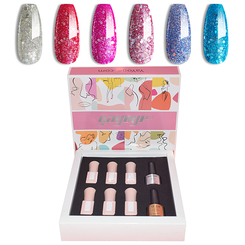 Snow Flakes 6 Colours Gel Polish Starter Set