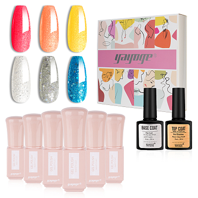 Wonder Girl 6 Colors UV Gel Nail Polish Kit