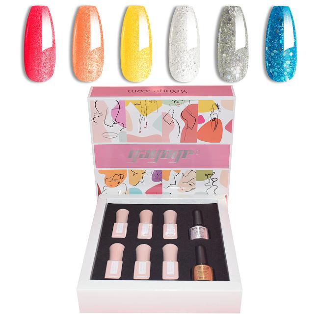 Wonder Girl 6 Colors UV Gel Nail Polish Kit