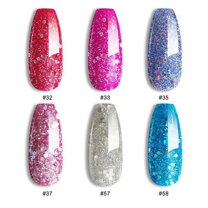 Snow Flakes 6 Colours Gel Polish Starter Set