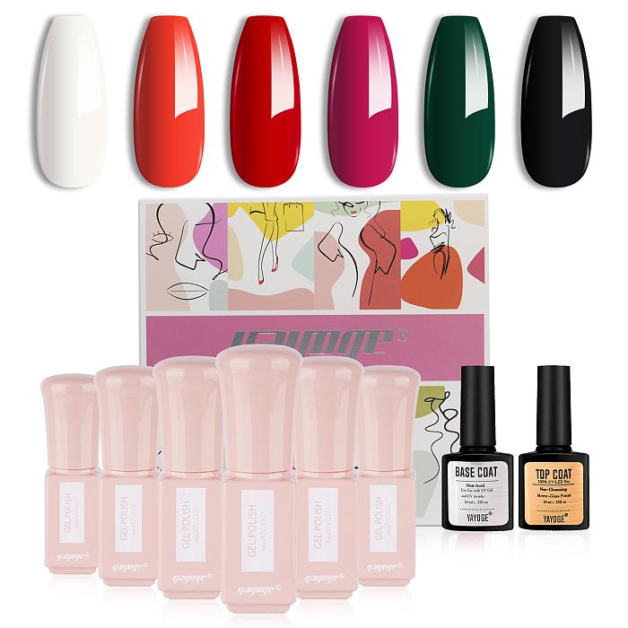 Baby's Secrets 6ml 6 Colours Nail Gel Polish Set
