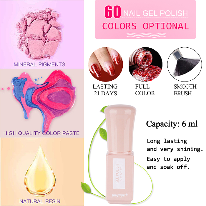 Haute Celebs 20 Colors Nail Gel Polish With Poly Gel Kit