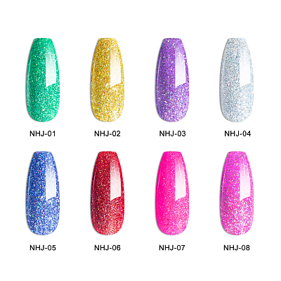 Bright Star ... As thou art 8 Colors Glitter Shinny Nail Gel Polish Kit