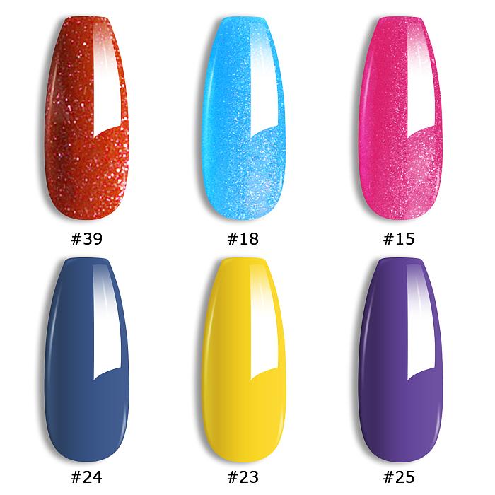 Shiny Knight & Wise Princess Professional 6 PCS UV Nail Gel Kit