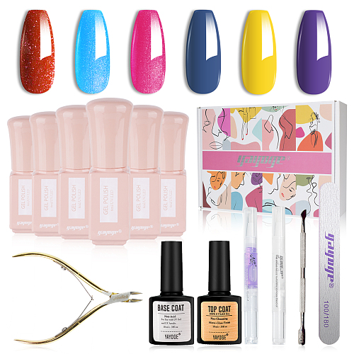 Shiny Knight & Wise Princess Professional 6 PCS UV Nail Gel Kit