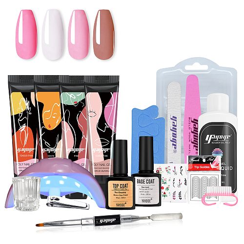 Petite Victoria 4 Color Poly Gel Kit With 36W Nail Dryer