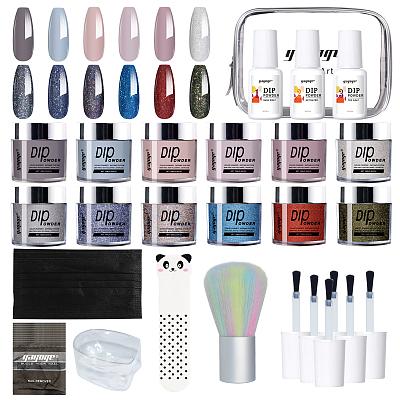Glitter dipping powder acrylic nails dip color DIY nail salon nail dip powder set colors