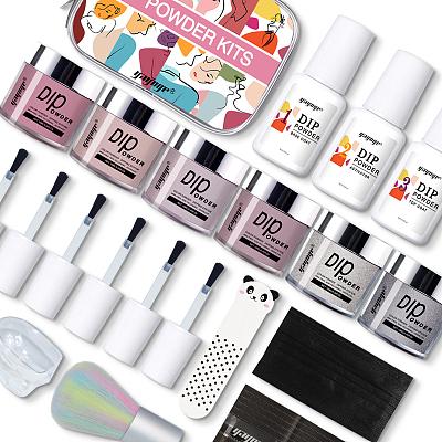 French nail dip nail powder starter kit