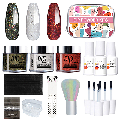 French Nails dip powder starter kit with manicure tools for nail diy