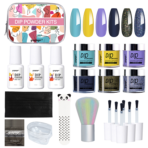 Tropic Trip 3 Colors Dipping Powder Nail Kit