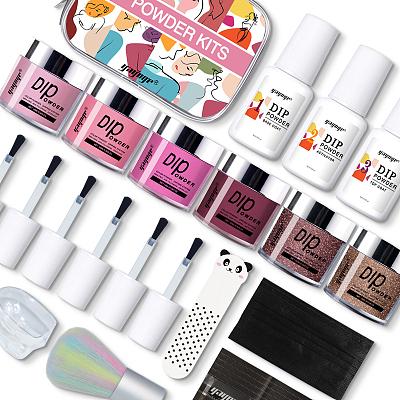 neon color nail dip powder kit