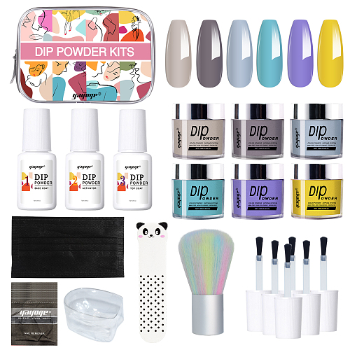 Ça va chéri 6 Colors Nail Dipping Powder Starter Kit