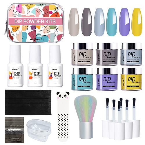 Ça va chéri 6 Colors Nail Dipping Powder Starter Kit
