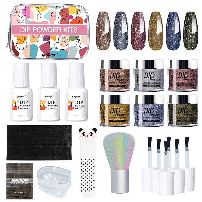 nail color diy dip powder kit for beginners